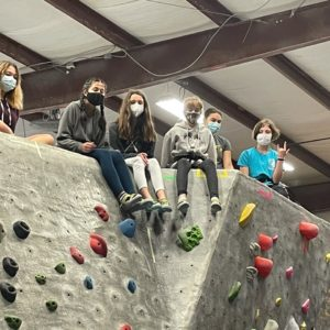Bouldering at Triangle Rock Club