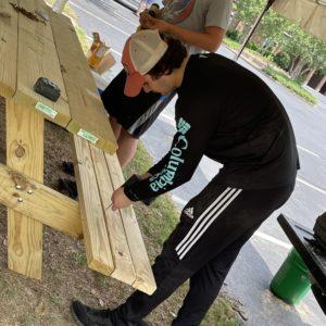 Building Picnic Tables for Good Shepherd Lutheran Church