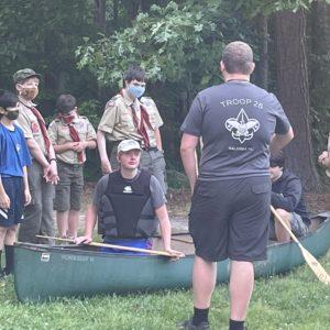 Canoe Skills Training Before Falls Lake Canoe Trip