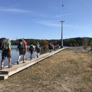 Falls Lake Test Hike with Packs