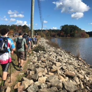 Lake Crabtree Hike - Hiking Merit Badge - Fall 2020